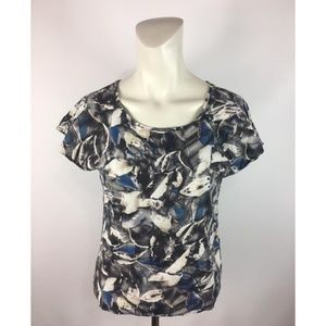 🎁Vero Moda Foilage Satin T-Shirt Top